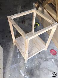 Build Wood End Tables by Remodelaholic Rustic Square Bedside Table Building Tutorial