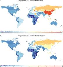 Proportional World Map by Global Burden Of Stroke Circulation Research