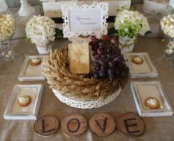 first holy communion table centerpieces interesting wreath use little chagne grapes as decorations on