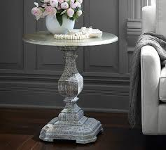 silvia pedestal side table pottery barn