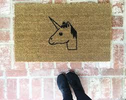 flooring coir doormat hey bear with brown wooden floor and small