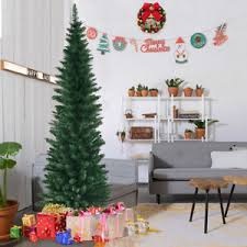 6ft pvc artificial pencil tree slim w stand home