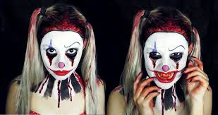 Halloween Makeup Clown Faces by