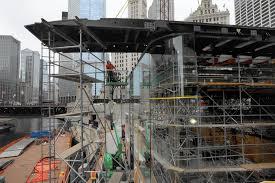 apple u0027s chicago river flagship taking shape chicago tribune