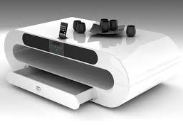 Moderne Wohnzimmer Design Couchtisch Weiß Hochglanz U2013 Designer Tisch Für Das Moderne
