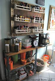 ikea hack turn spice racks and a large frame into hanging storage