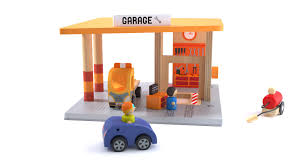 3d garage wood toy garage jouet en bois cgtrader