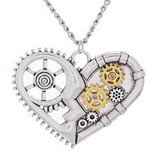 steampunk pendant necklace images Daisyjewel steampunk heart pendant necklace jewelry jpg