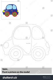 vector car cartoon coloring book children stock vector 404025100