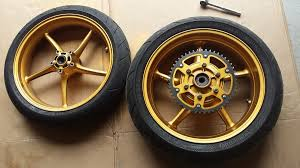 painted my wheels gold triumph675 net forums