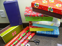 wrapping boxes simply shoeboxes to wrap or not to wrap operation christmas