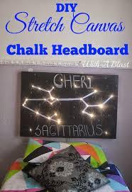 stretch canvas chalk headboard