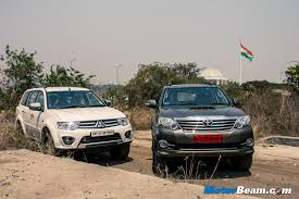 mitsubishi pajero sport vs toyota fortuner shootout review