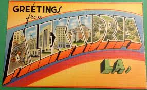 vintage greetings from alexandria louisiana postcard from