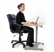 Pneumatic Height Adjustable Desk by T Zone Ts 1 Sit To Standing Desk Cherry Ergonomic Pneumatic