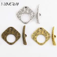 Toggle Clasps For Jewelry Making - aliexpress com buy 10 sets tibetan antique silver square shape