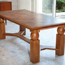 natural wood dining room tables extendable natural wood dining table by baptistin spade 1950s for