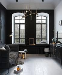 small black and white loft by max lykasov u0026 tatiana shishkina via