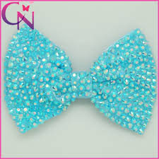 bows for hair 300pcs lot 6 large rhinestones hair bows with handmade