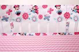 minnie mouse happy day crib liner disney baby