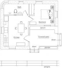 1 bedroom guest house floor plans farm guesthouse plan