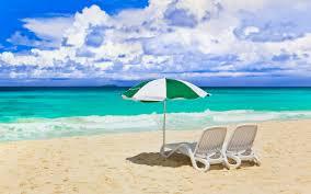 Beach Sun Umbrella Beaches Ocean Sky Paradise Time Chair Nature Summer Beach Sea