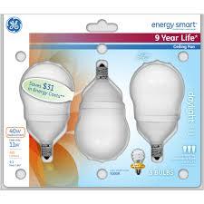 ge energy smart cfl light bulbs 13 watt 60w equivalent ge energy smart cfl 11w a17 bulb 3pk walmart com