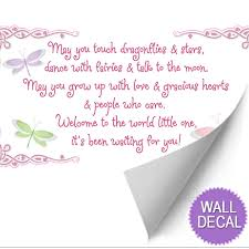 Love And Stars Quotes by May You Touch Dragonflies Stars Fairies Quote Wall Vinyl Stickers
