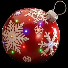 Home Depot Christmas Lawn Decorations National Tree Company 18 In Pre Lit Ball Ornament Decoration Bg