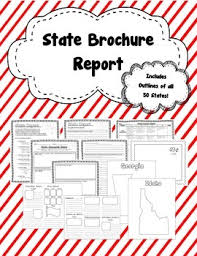 state brochure report includes directions brochure template