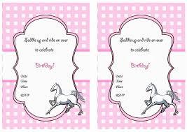A Birthday Invitation Card Horse Birthday Invitations Kawaiitheo Com