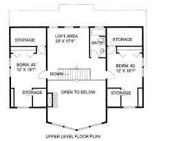 upper floor plan log style house plan 3 beds 2 50 baths 2281 sq ft plan 117 675