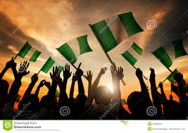 Flag Download Free People Holding Flag Of Nigeria In Back Lit Stock Image Image Of