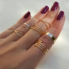 hana gold plated midi rings set last set from s closet on
