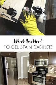 how to use gel stain on cabinets 5 things you need for gel staining cabinets stoneheaddiy