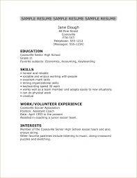 best ideas of sample resume for high senior for your
