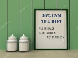 motivation words 30 gym 70 diet abs are made in kitchen not