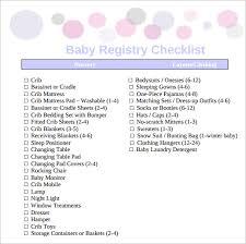 baby gift registry list sle baby registry checklist 9 exle format