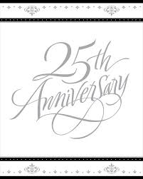 Invitation Cards For 25th Wedding Anniversary 25th Wedding Anniversary Royalty Free Stock Images Image 11363469