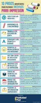 layout en español como se escribe cómo preparar tus archivos para impresión infographs pinterest