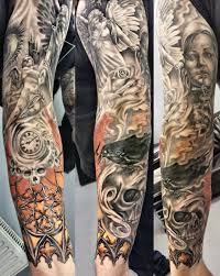 28 awesome clock sleeve tattoo