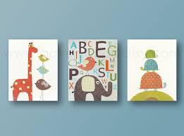 Baby Room Decorations Elephant Giraffe Bird Alphabet Personalized Baby Nursery Decor