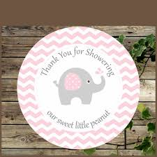 pink and grey elephant baby shower elephant favor tags pink chevron elephant baby shower tags