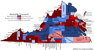 Map Of Virginia by Maps Of Virginia Voting 2013 U2013 The Bull Elephant