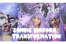 Unicorn Makeup Halloween by Zombie Unicorn Transformation Especial De Halloween