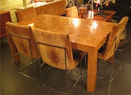 Dining Tables Nyc Milo Baughman Burlwood Parsons Dining Table Sold White Trash