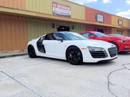 Audi R8 White - audi r8 custom wrapped white with custom painted wheels custom