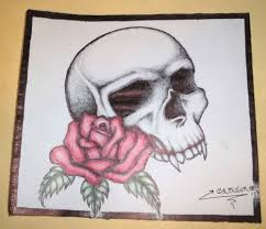 tattoo pen ebay original pen drawing sketch skull rose prison inmate art tattoo ebay