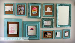 Wall Picture Frames by Kids Artwork Gallery Wall