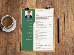 Free Resume Templates Creative Matebe Creative Cv Resume Template In Green Color 808